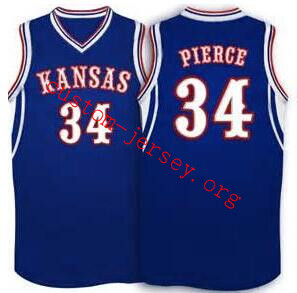 size 40 93505 43306 Paul Pierce Kansas Jayhawks BASKETBALL JERSEY