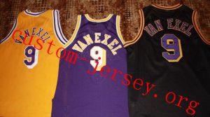 #9 Nick Van Exel basketball jersey purple,white,black