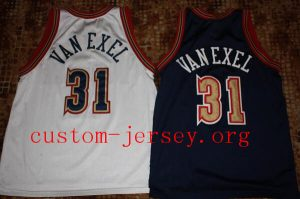 Nick Van Exel #31 Nuggets retro basketball jersey