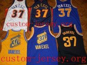 #37 Nick Van Exel golden state throwback jersey