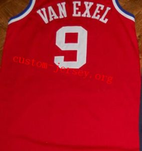 #9 custom  Nick Van Exel  all star game jersey red
