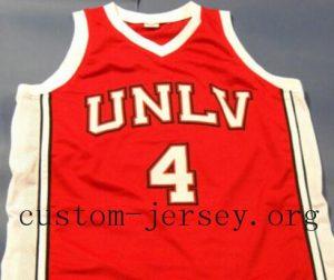 Custom #4 LARRY JOHNSON UNLV RUNNIN REBELS College Basketball Jersey