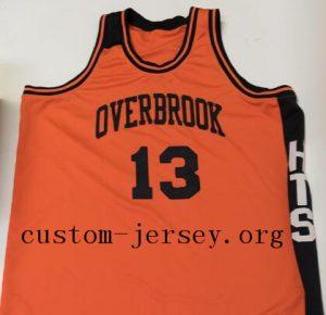 13 Wilt Chamberlain Throwback Overbrook High School Jersey orange 94cf283de