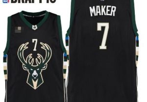 #7  Thon Maker basketball jersey green, white