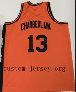 ... Wilt Chamberlain Throwback Overbrook High School Jersey orange d526822d6