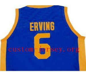 the latest 2848a 0ef7c Julius Erving Dr. J Roosevelt High school Throwback Jersey ...
