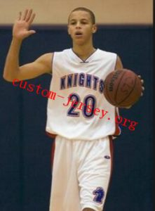d4f8c0ef2ae1 Stephen Curry Charlotte Christian High School Knights White Basketball  Jersey ...
