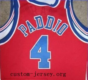 Gerald Paddio basketball jersey red