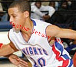 720bacaf35cf ... Stephen Curry Charlotte Christian High School Knights White Basketball  Jersey