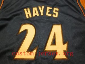 #24  Jarvis Hayes basketball jersey blue,white