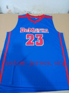 #23 victor oladipo dematha basketball jersey blue,white