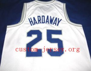 #25 penny hardaway memphis state jersey blue,white
