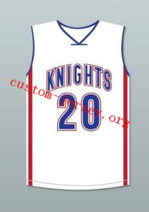 85b2887edffc Stephen Curry Charlotte Christian High School Knights White Basketball  Jersey ...