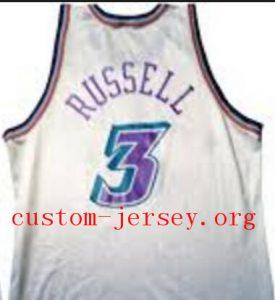 #3 bryon russell Jazz jersey black,purple,white
