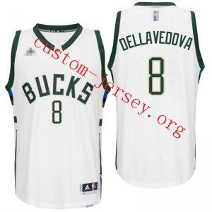 #8 Milwaukee Bucks Matthew Dellavedova 2016 New Swingman Jersey white,black,green