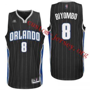 #8 Bismack Biyombo Orlando Magic basketball Jersey black,white,blue