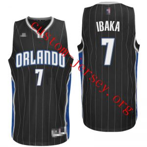 #7 Serge Ibaka Orlando Magic basketball Jersey white,black,blue