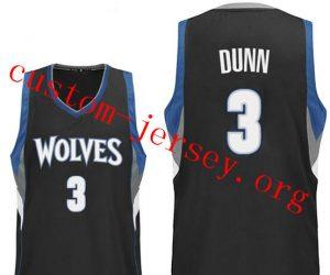 #3 Kris Dunn Minnesota Timberwolves jersey black,blue,white