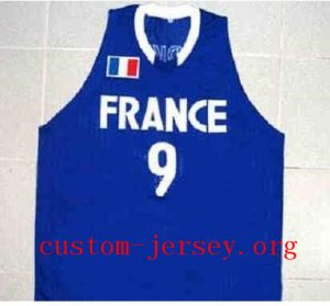 CUSTOM #9 TONY PARKER TEAM FRANCE JERSEY SEWN
