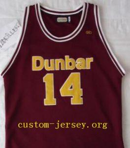 sports shoes 7c69b 42adb Muggsy Bogues Dunbar | Custom Jersey - Cheap Customized ...