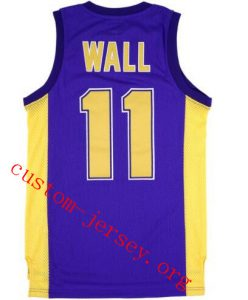 new concept 618b1 4c441 11 John Wall holy rams high school jersey purple | Custom ...