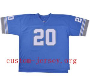 new concept 6dfd7 3d3e6 20 Barry Sanders 1996 Detroit Lions throwback jersey blue ...