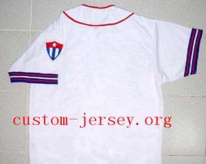 CUSTOM HAVANA CUBANS BUTTON-DOWN RETRO BASEBALL JERSEY CUBA NEW