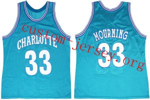 buy popular 59543 bae7d Alonzo Mourning Charlotte Hornets Jersey | Custom Jersey ...