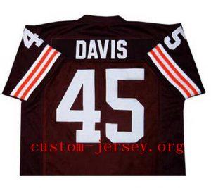CUSTOM #45 ERNIE DAVIS THE EXPRESS MOVIE BROWN JERSEY