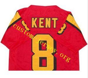 CUSTOM #8 CLARK KENT SMALLVILLE SUPERMAN TV JERSEY black, red
