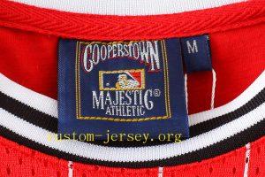 MLB NY basketball jersey red,black