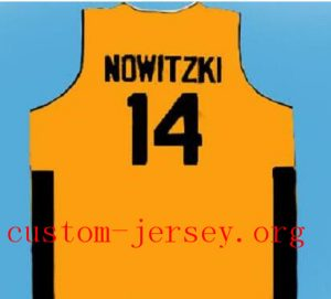 CUSTOM #14 DIRK NOWITZKI  TEAM DEUTSCHLAND JERSEY GERMANY black,yellow