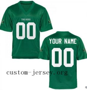 Marshall Thundering Herd Personalized Football Jersey - Green