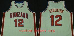 John Stockton GONZAGA BULLDOGS College Basketball Jersey