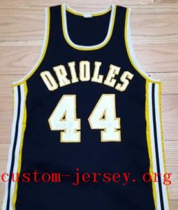 custom ORIOLES High School  baksetball jersey