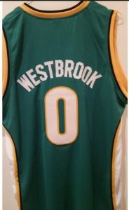 Russell Westbrook Seattle Supersonics Jersey