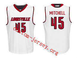 quality design d0a18 4d64d 45 Donovan Mitchell Louisville jersey red, white and black ...